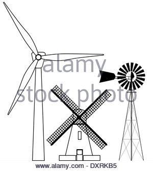 300x337 Modern Windmill Drawing Stock Photo, Royalty Free Image 115721400