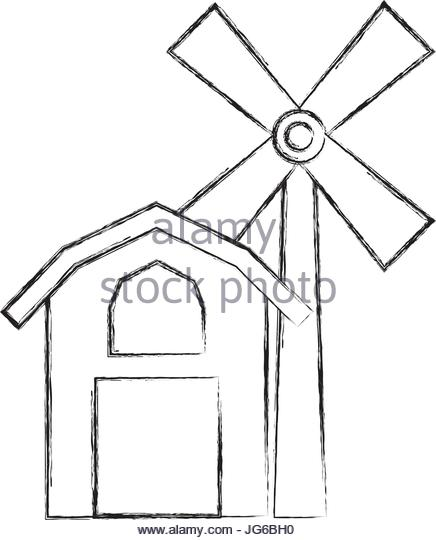 436x540 Windmill Stock Vector Images