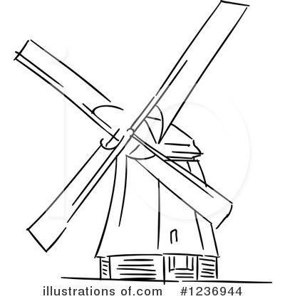 400x420 Windmill Clipart Drawn