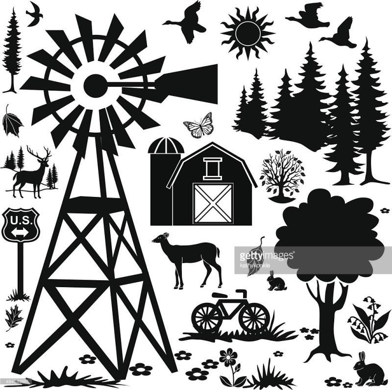 800x796 Farm Windmill Clipart