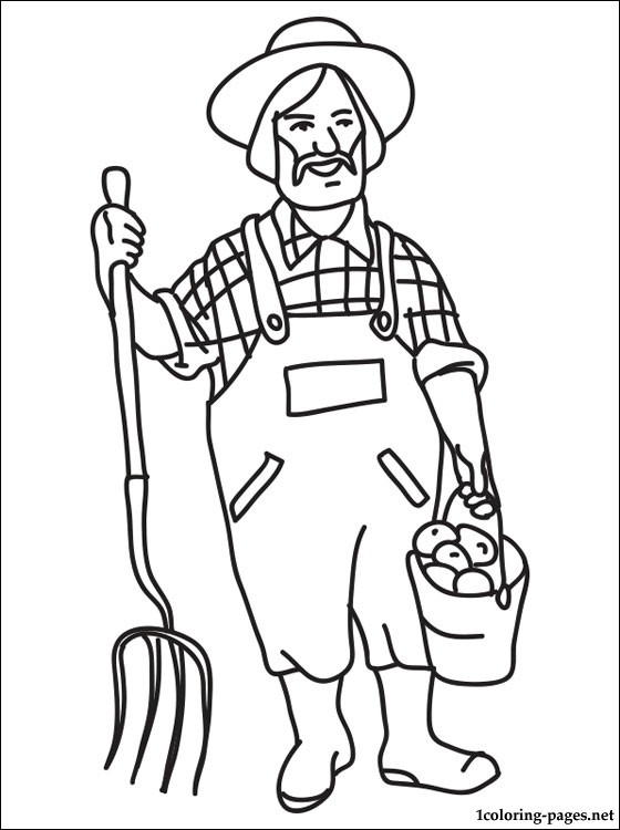 560x750 Coloring Page With The Farmer Pages