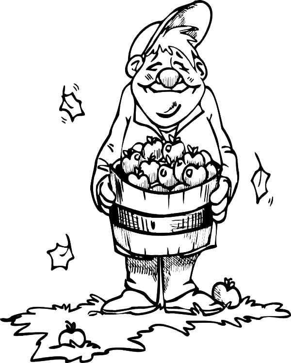 600x750 Happy Farmer Apple Harvests Coloring Pages Happy Farmer Apple