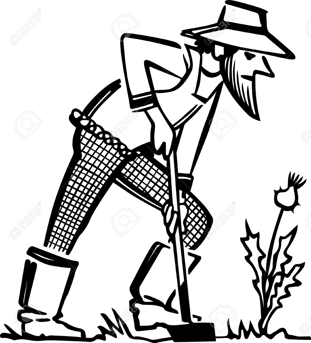 farmer in the dell coloring pages | Farmer Drawing Images at GetDrawings.com | Free for ...