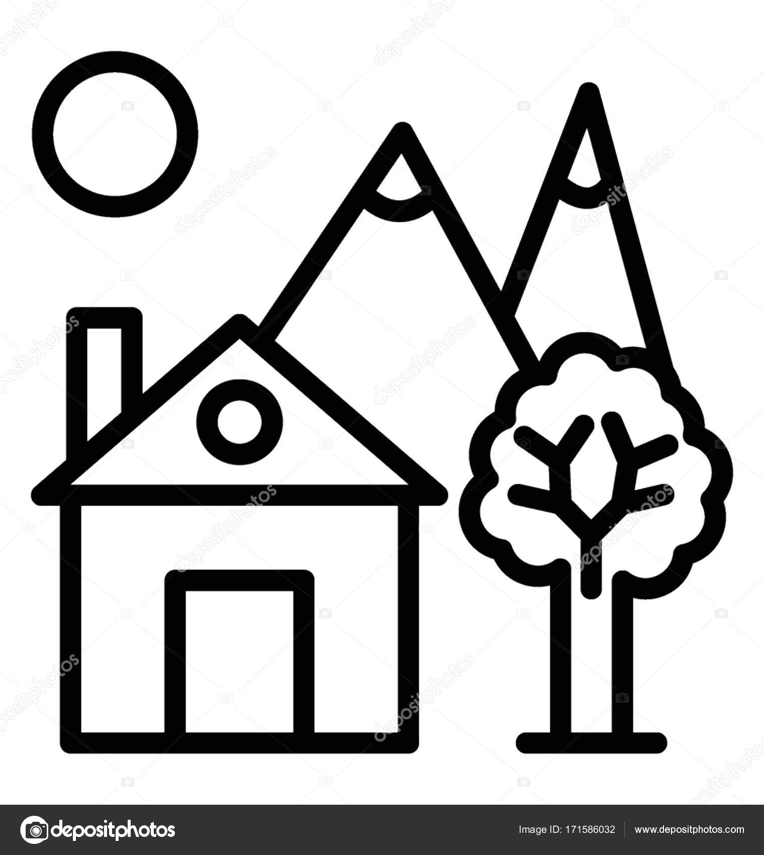 1520x1700 Farmhouse Vector Icon Stock Vector Vectorsmarket