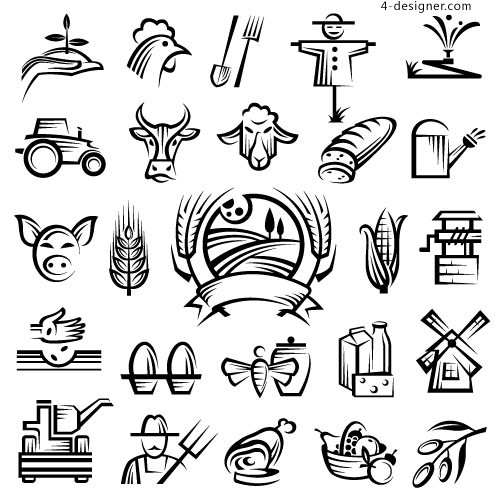 500x500 4 Designer Idyllic Rural Farmhouse Icon Pictures