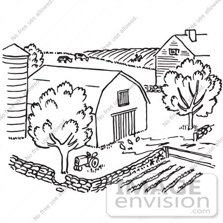 Farmhouse Drawing At Getdrawings Com Free For Personal
