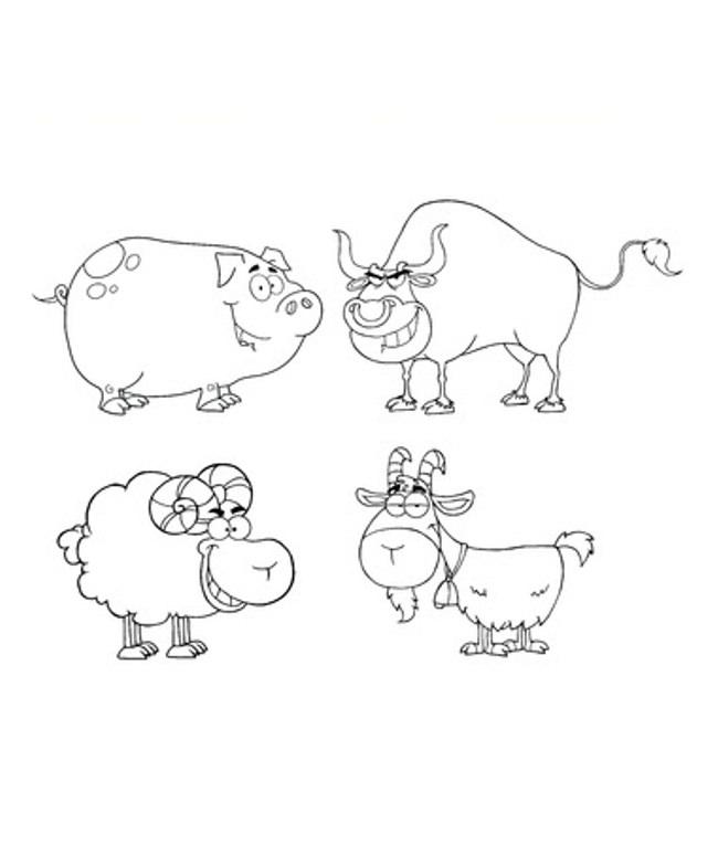 650x765 Farm Animal Template
