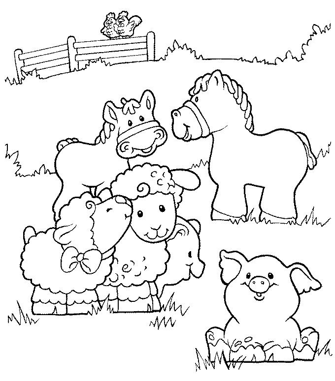 680x775 Farm Coloring Pages Coloring Free