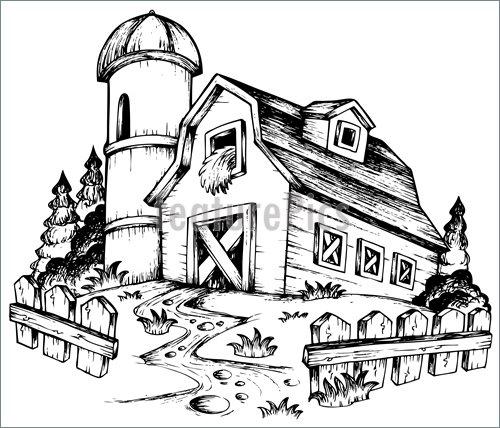 500x428 Farm Theme Drawing 1 Illustration