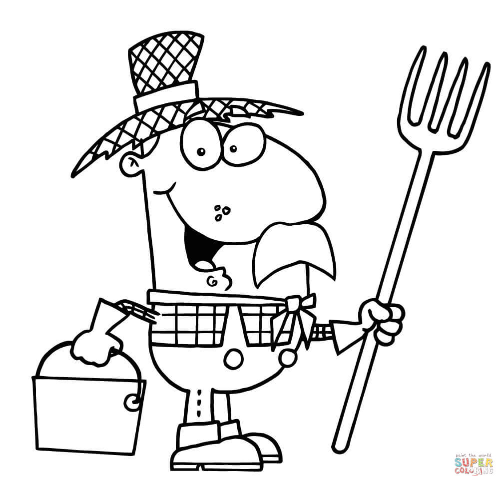 1009x973 Farmer Coloring Page Free Printable Coloring Pages