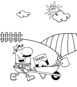 267x300 Farming Cartoon Clipart Image