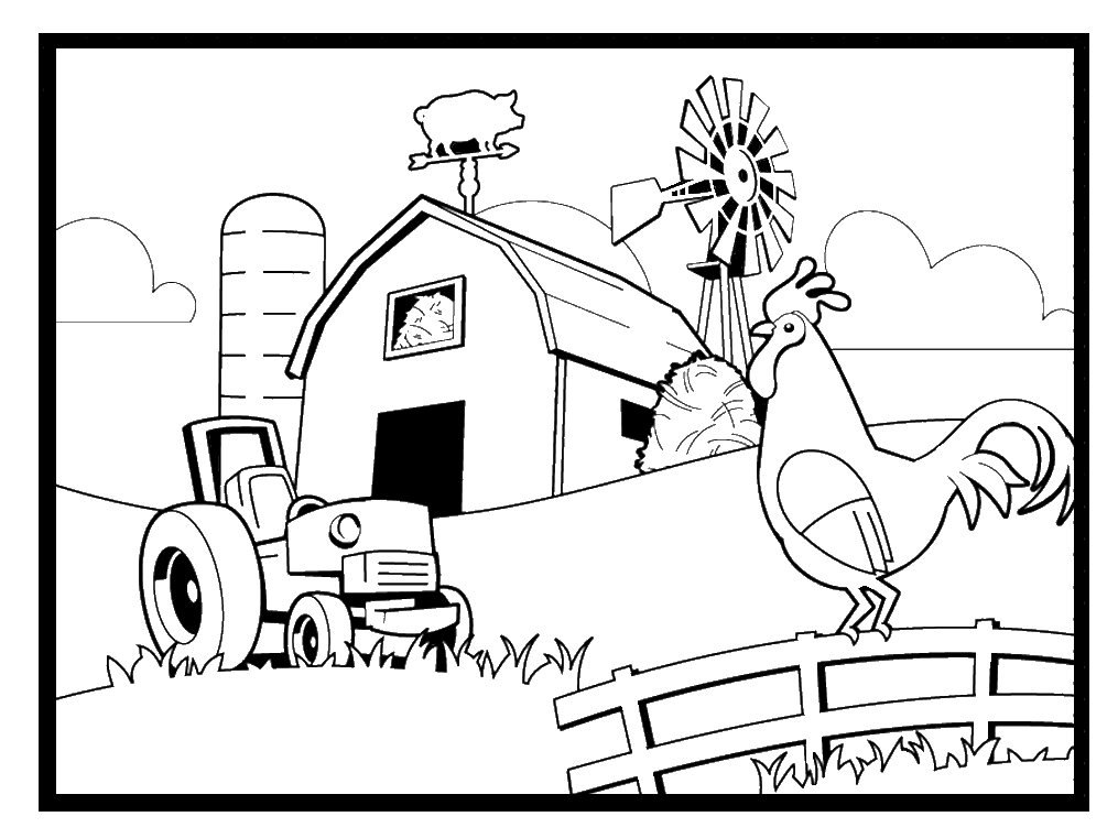 1015x761 Farming Coloring Pages