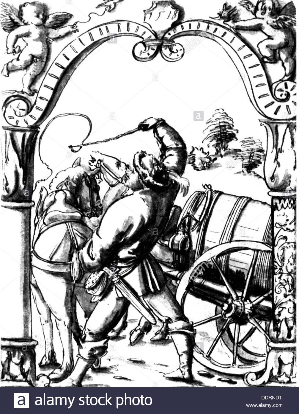1006x1390 Agriculture Farmer Peasant Driving Horse And Carriage Drawing 1518