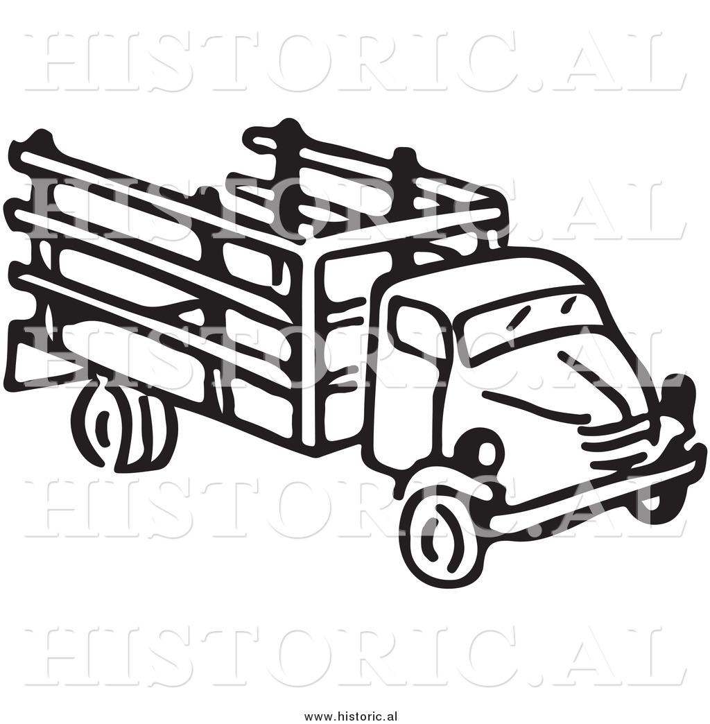 1024x1044 Clipart Of An Old Farm Truck