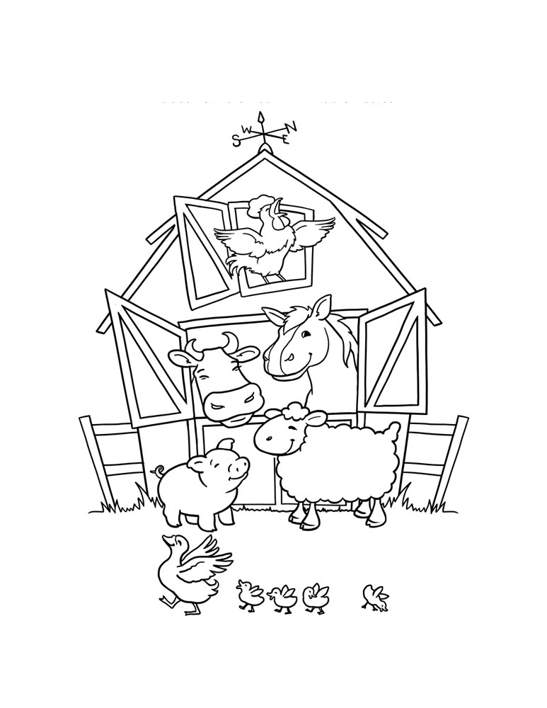 773x1000 Farm Coloring Pages For Kids