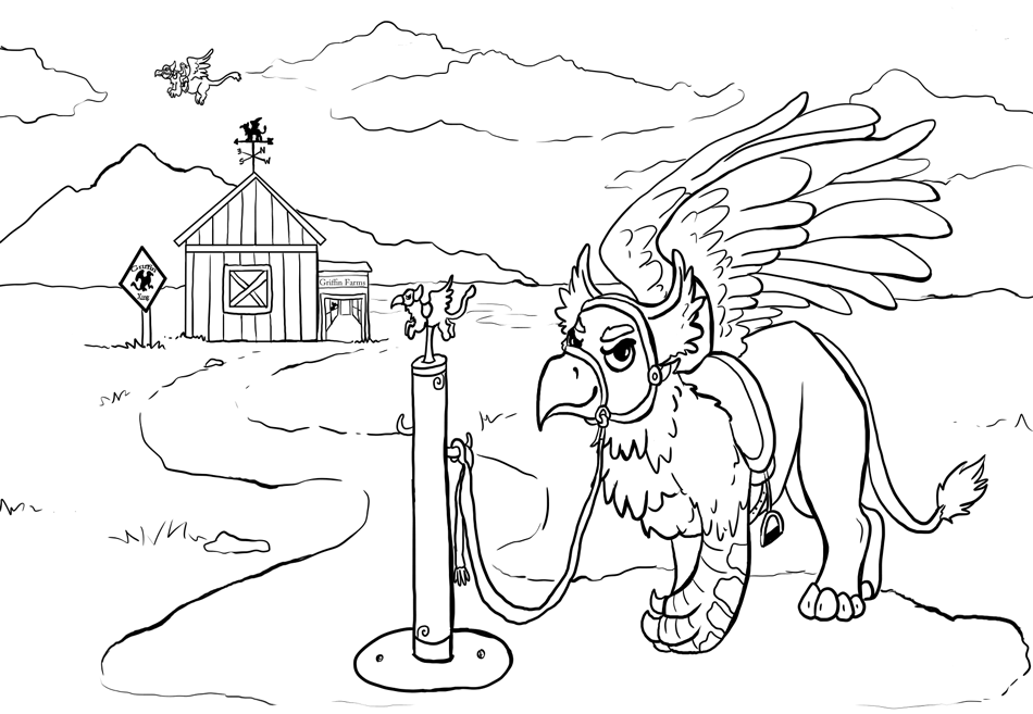 950x657 Griffin Farms Lineart Contest By Painted Flamingo