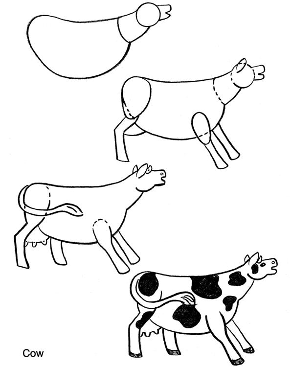 595x750 How To Draw Farm Animals Art