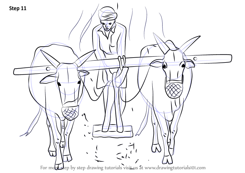 844x598 Learn How To Draw A Farmer Working In The Farm (Other Occupations