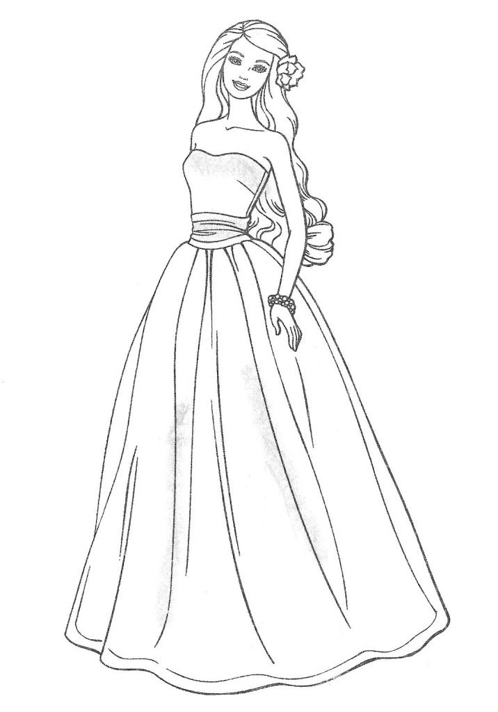 716x1024 Barbie Fashion Clothes Coloring Pages Printable For Sweet Draw