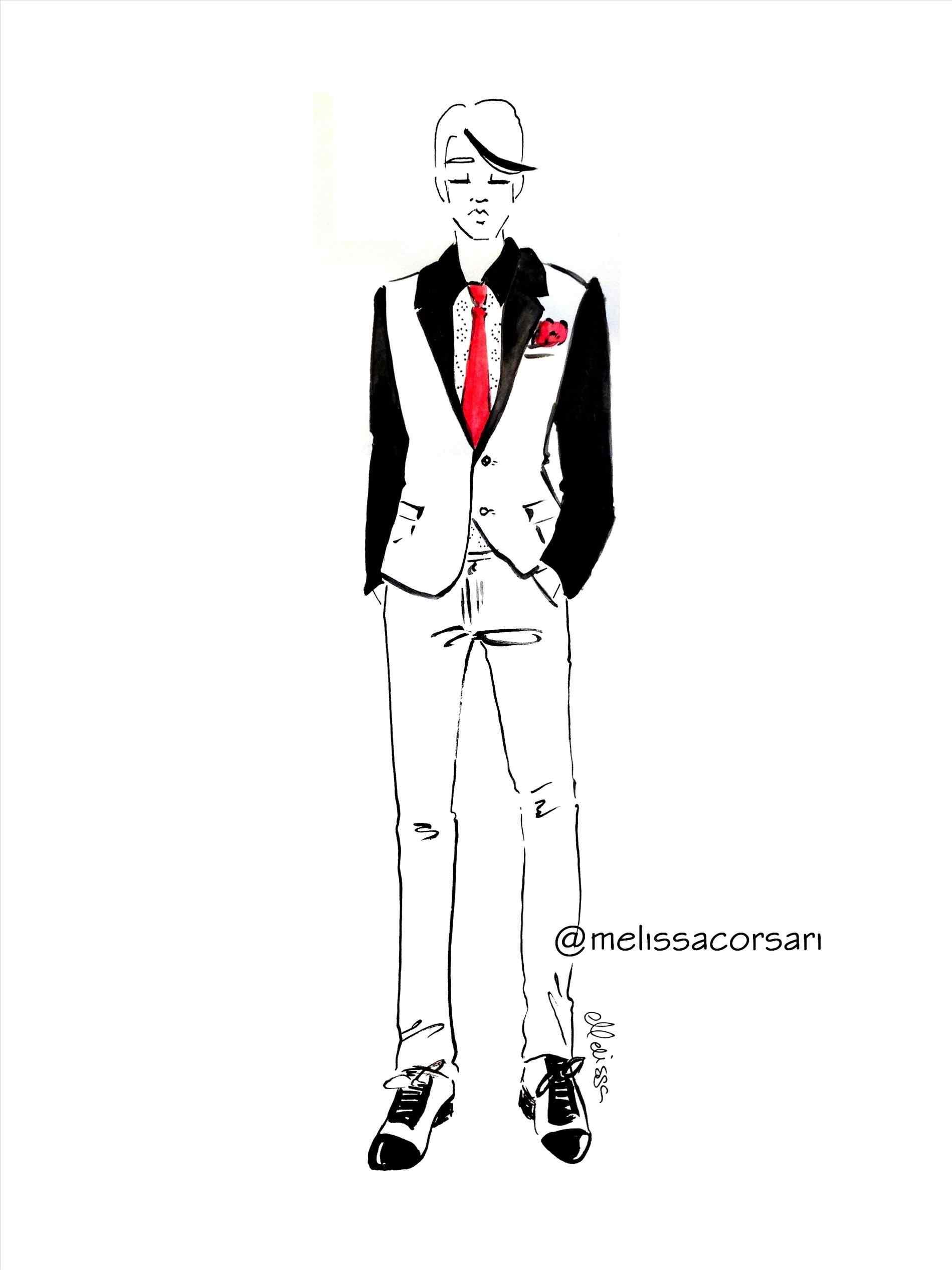 1899x2533 Fashion Clothes Drawing Men