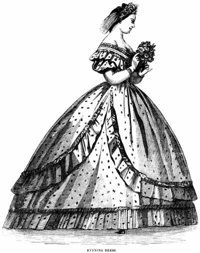 400x506 1860s Evening Dress Fashions, Descriptions And Fashion Plates