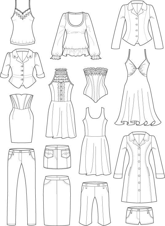 537x736 Gallery Clothing Drawings,