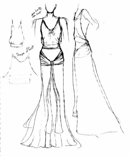 417x500 How To Draw A Dress Sketch Fashion Belief