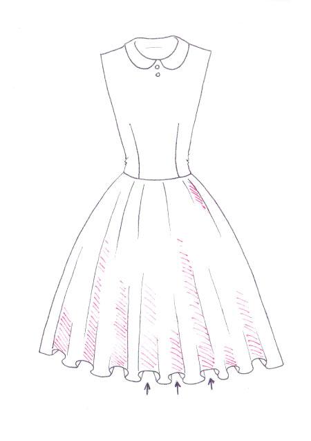 450x637 How To Draw Floral Print I Draw Fashion
