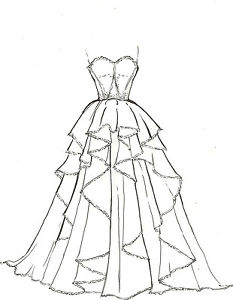 233x300 2 Pieces Artists Original Fashion Illustration Sketch Pencil