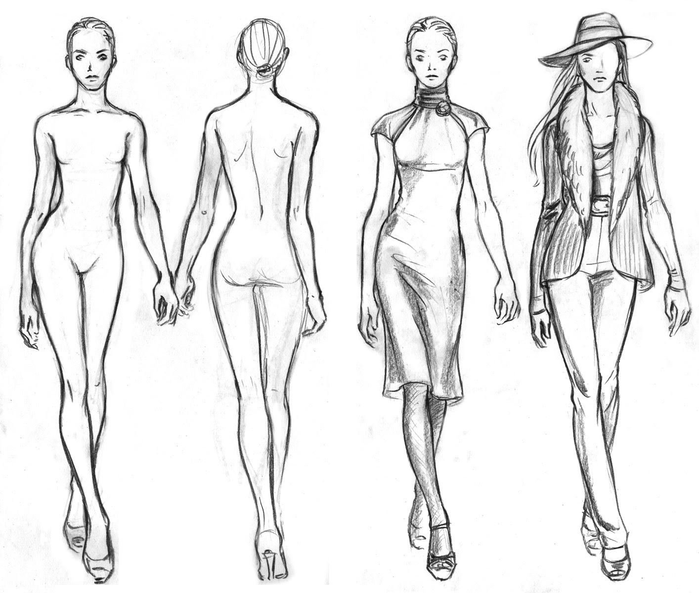 1414x1200 Fashion Drawing Templates Easy Coloring Page For Kids