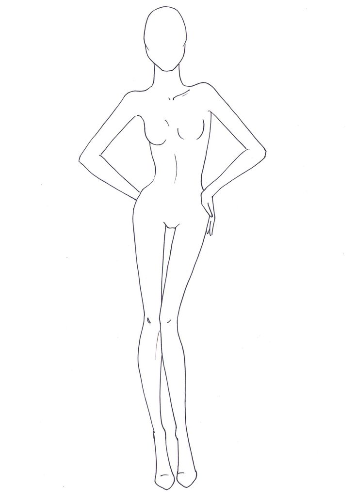 Drawing a fashion figure 72