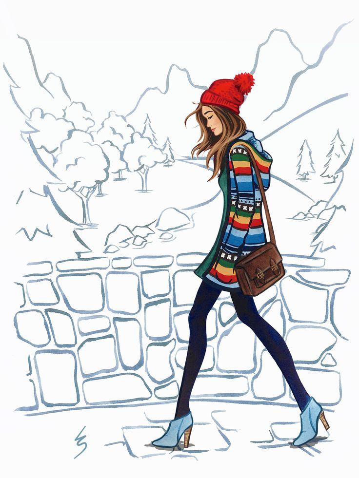 Fashion Girl Drawing At Getdrawings Com