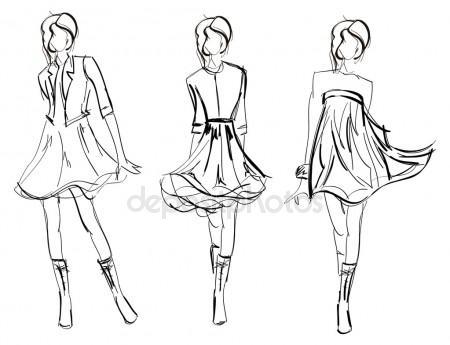 450x345 Fashion Sketch Stock Vectors, Royalty Free Fashion Sketch