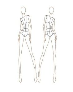 Fashion Design Mannequin Sketch