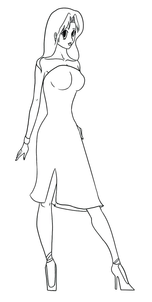 600x1188 Fashion Model Coloring Pages Fashion Model How To Draw Fashion