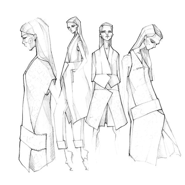 600x601 Zejak, Spring 2015 Collection Drawing Spring 2015