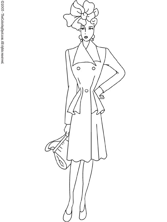 540x720 Fashion Model Coloring Pages Fashion Model Coloring Page Photo