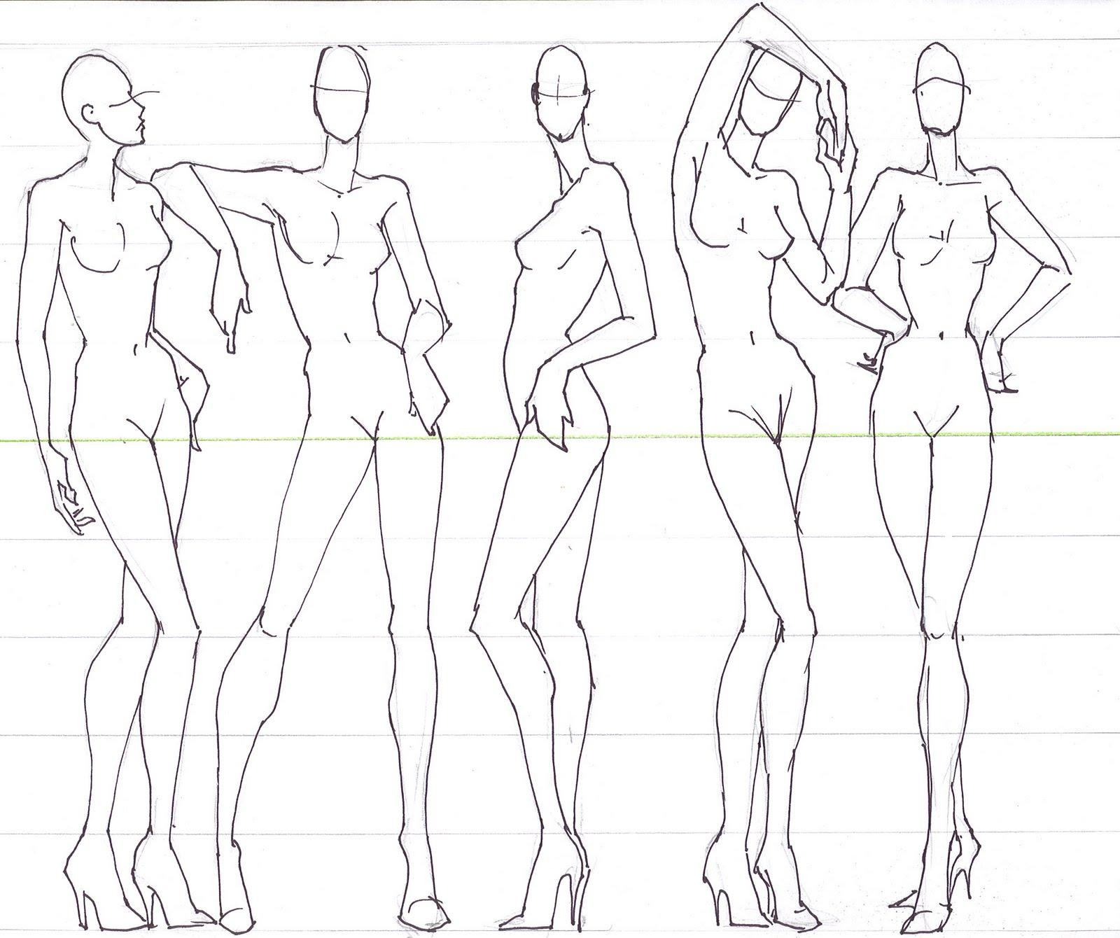 Male figure drawing, fashion drawing 45