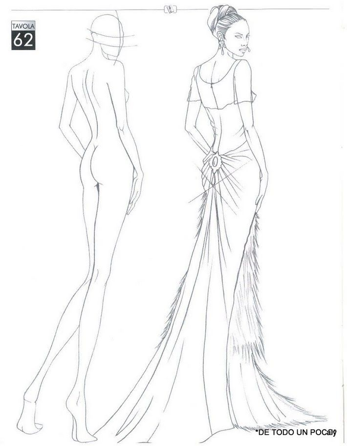 710x912 Free Downloadable Croquis For Fashion Drawing Croquis