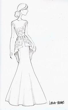 236x382 Runway Sketch Sneak Peek Lela Rose Fashion Illustrations