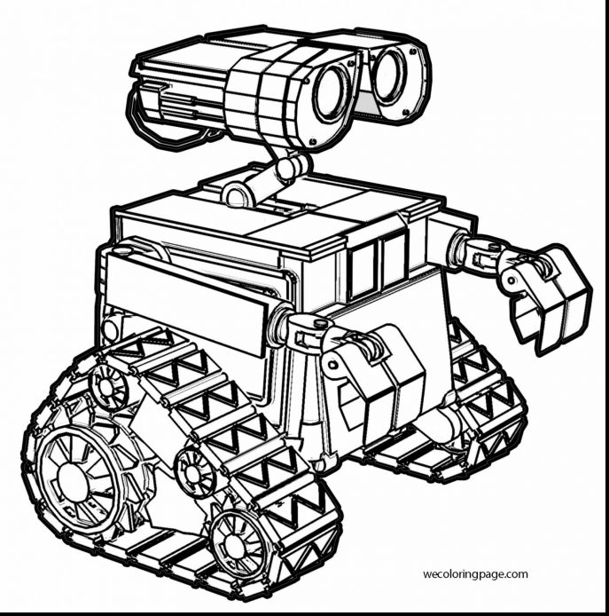 687x694 Coloring How To Draw Robot Coloring Book Pages For Kids