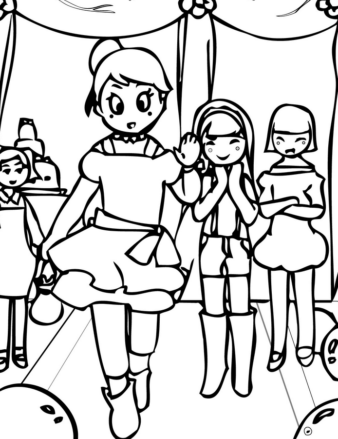 694x900 Fashion Party Coloring Page Amp Coloring Book