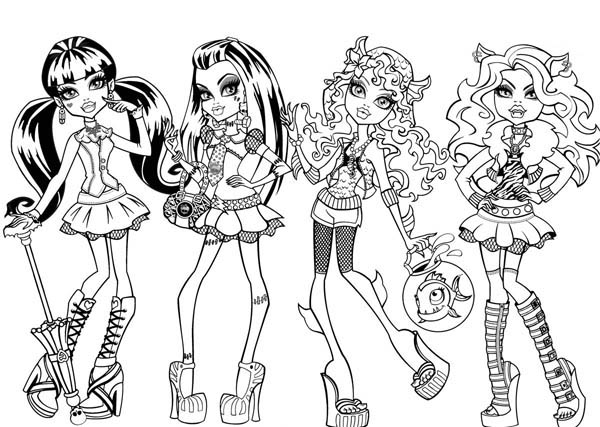 600x427 Fashion Show In Monster High Coloring Page Color Luna