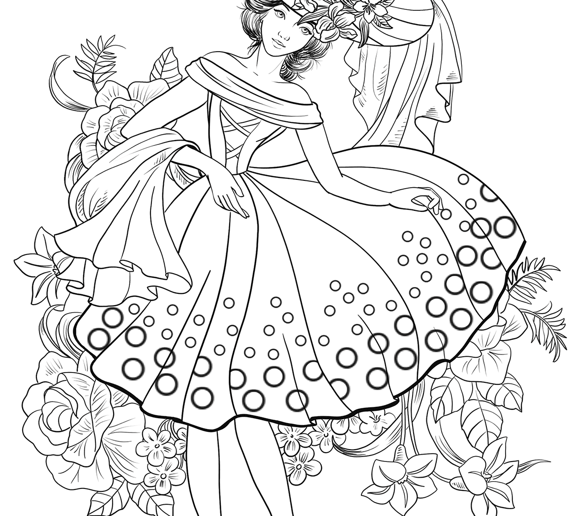 1159x1050 Great Fashion Girls Coloring Pages With On For Adults Of Clothes