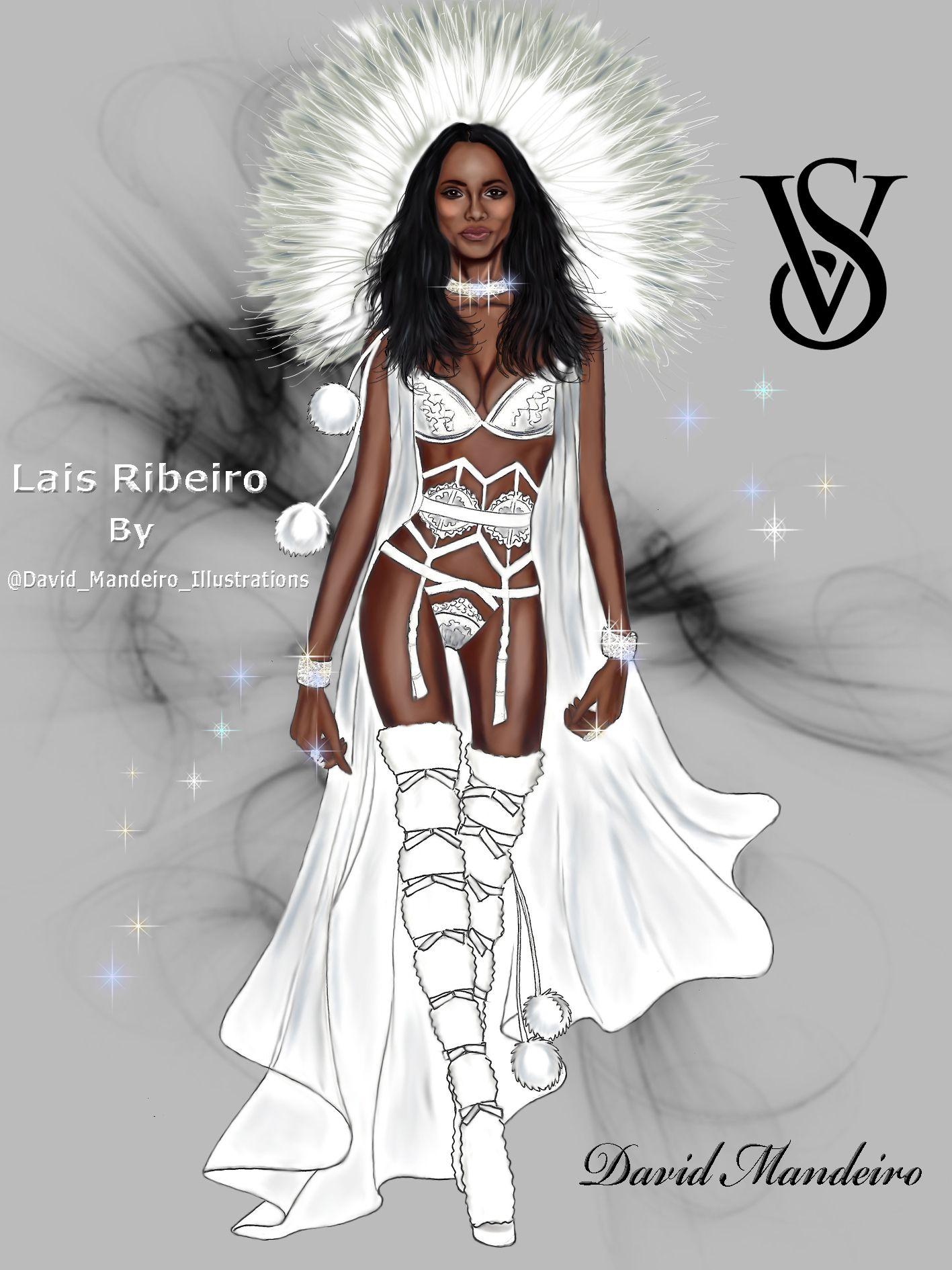 1417x1890 Lais Ribeiro For Victoria's Secret Fashion Show 2015 By David