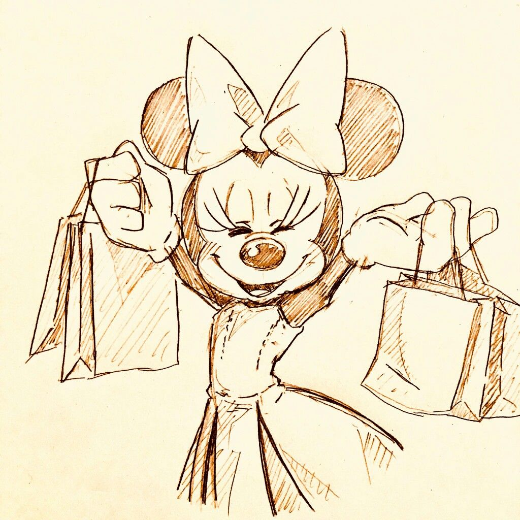 1024x1024 Minnie In Her Formal Dress Doing A Little Shopping Before
