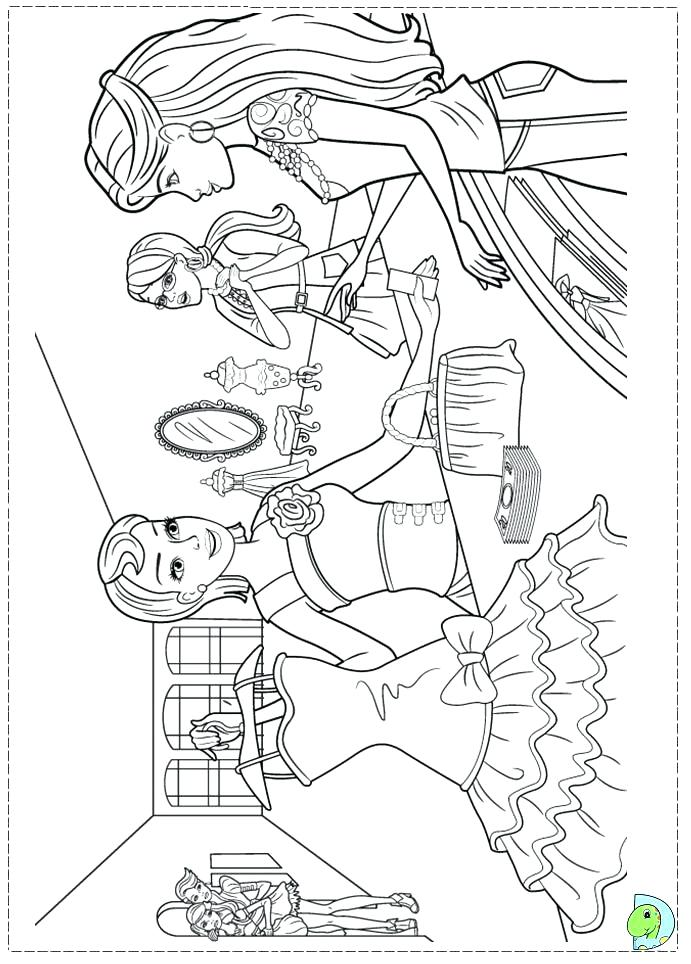 691x964 Simple Barbie Coloring Pages To Print Fee Best Girls Fashion Show