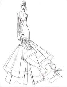236x305 The Heart Truth Fashion Show Red Dress Sketch By Designer Ross