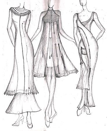 370x450 Salwar Suits Models Fashion Sketches