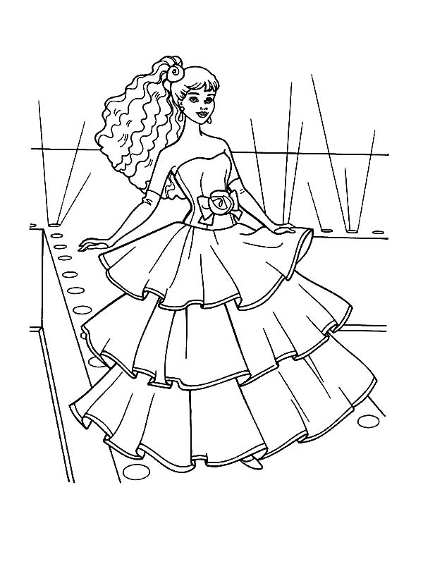 600x800 Barbie Doll Coloring Pages Fashion Show Barbie Doll Coloring Page